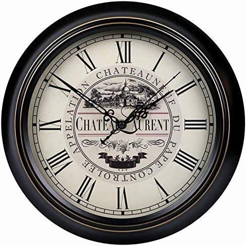 Wall Clock American Retro Living List price Creative Room Fort Worth Mall Hangin Mute