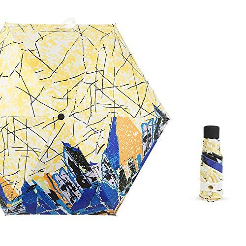 Mini Vijf Vouwparaplu voor Vrouwen Anti UV Zonnescherm Parasol Draagbare Dames Winddicht Dubbel gebruik Zonnige en Regenparaplu's