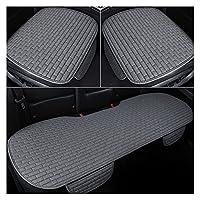 LMMY カーシートカバー前面/後部亜麻座席保護クッション自動車シートクッションプロテクターパッドカーカバーマットProtect (Color Name : Gray 1set)