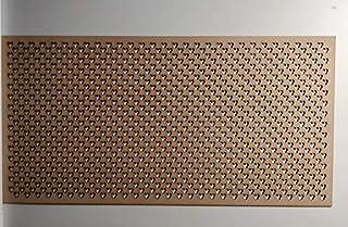 LaserKris - Rejilla para radiador (4 x 2) MM1
