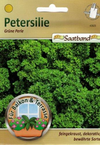 Petersilie grüne Perle Saatband für Balkon & Terrasse feingekraust dekorativ bewährte Sorte Schnittpetersilie 43925