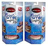 2 Pack - Instant Smile Natural Shade Comfort Fit Flex Veneers - Fix your smile from the comfort of your own home in just minutes! Hand Crafted