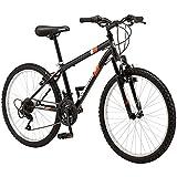 Roadmaster 24' Granite Peak Boys Mountain Bike, Black red Fast