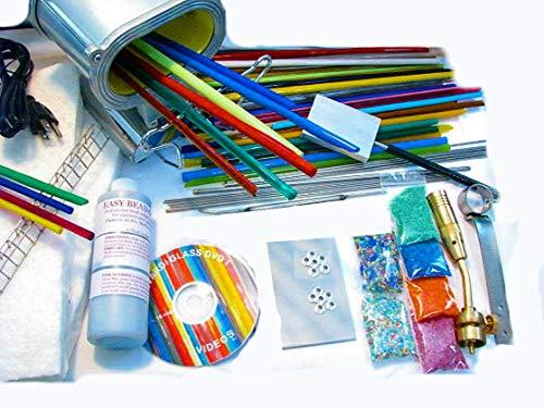Devardi Glass Lampwork, Beadmaking, Glass Blowing COE 104 Starter Kit - Advanced