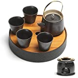 Bollitore in ceramica Bollitore in ceramica Set di teiera del tè alcolica Set da tè in stile giapponese in stile giapponese Pot Pot Pot di Pietra Potterica Tè Set da tè ceramica ceramica bolla a secco