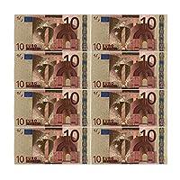 DFSM コレクションやギフトEUマネー絶妙なクラフト用カラーユーロ紙幣10個入り/ロット10 EUR金箔紙幣 (色 : B)