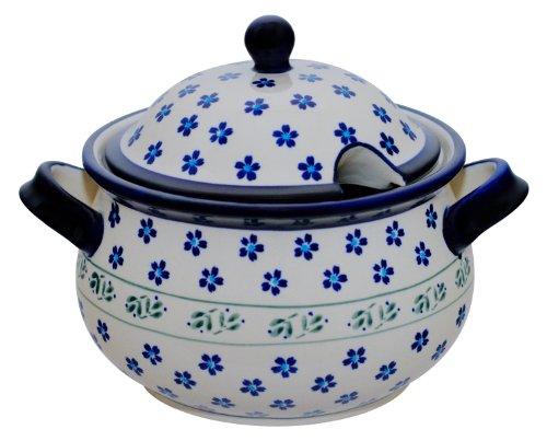Original Bunzlauer Keramik Suppenterrine 3,0 Liter im Dekor 163a