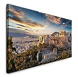 Paul Sinus Art GmbH Athen 120x 50cm Panorama Leinwand Bild