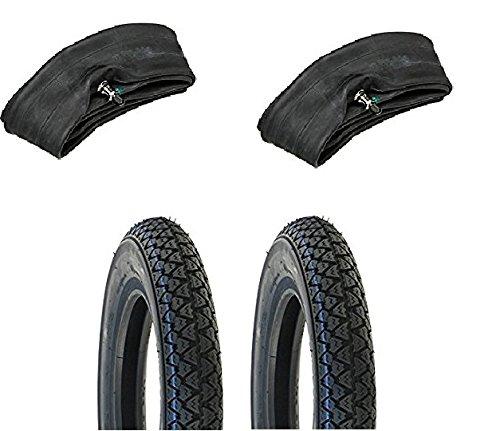 MG Kit – Vee Rubber – Paire de pneus 3.50 x 10 avec chambres à air pour Piaggio Vespa, Ape, Px Cosa, T5