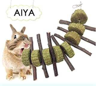 AIYA Bunny CHEW Toys, 100% Natural & Organic Apple Sticks, Helps Improve Dental Health, Suitable for Rabbits, Guinea Pigs, Chinchillas, Hamsters, Parrots and Other Small Pets.