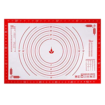 Pastry Mat with Measurements, 24 x 16 Inches Re...