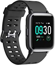 Willful Smart Watch 2019 Version Swimming Waterproof IP68, Fitness Tracker Watch with Heart Rate Monitor Sleep Tracker,Smartwatch Compatible with iPhone Android Phones for Women Men Kids (Black)