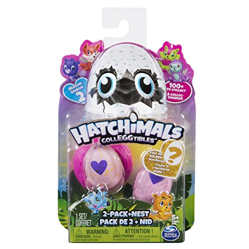 Spin Master- CollEGGtibles 2 Pack Nest-Season Hatchimals Série 2-Modèle Aléatoire, Multicolor (6041329) , color/modelo surtido