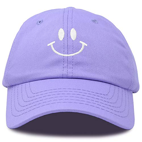 DALIX Smile Baseball Cap Smiling Face Happy Dad Hat Men Women Teens in Lavender