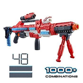 XShot Excel Regenerator Foam Dart Blaster with Over 1 000 Unique Combinations!  48 Darts  by Zuru Multicolor 36351