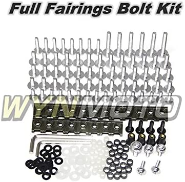 Red WYNMOTO US Stock Complete Motorcycle Fairing Aluminum Fasteners Body Screws For Yamaha R1 09-11 YZF1000 R1 2009 2010 2011 New Bolt Kit Hardware Clips