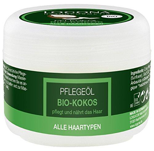 LOGONA Naturkosmetik Pflegeöl Bio-Kokos, Für intensive Pflege aller Haartypen, Nährt und repariert trockenes & strapaziertes Haar, Für natürlich gesunde Haare, Vegan, 45ml, 2er Pack (2 x 45 ml)