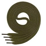 Cordón plano Di Ficchiano para zapatillas y calzado deportivo, muy resistente, aprox. 7,0 mm de ancho, 45 colores, 60 cm - 220 cm de largo, poliéster, color Verde, talla 130