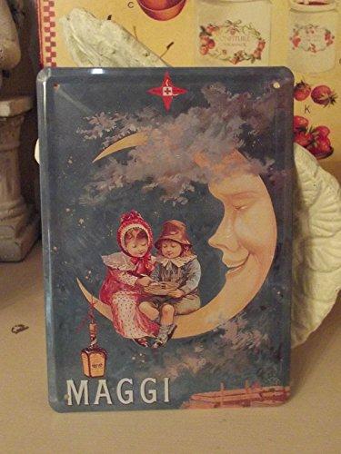 Editions Clouet 29003 Tableau d'Affichage Maggi Lune CP Métal 15 x 21 cm
