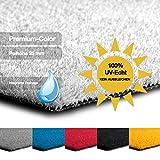 casa pura Kunstrasen Premium Color • Weicher Flor 25 mm • UV-beständig ></noscript> 6000 h & wasserdurchlässig • Rasenteppich Meterware • Teppichrasen für Balkon, Terrasse, Deko (weiß, 100x150 cm)
