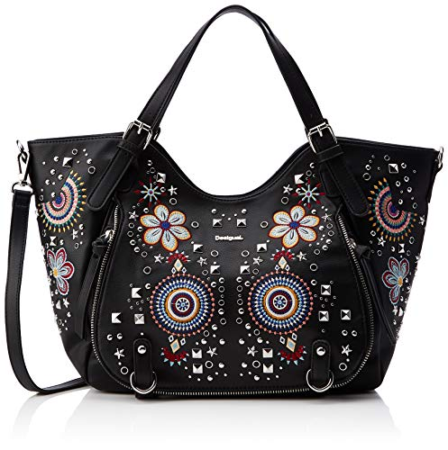 Desigual - Bag Apolo Rotterdam Women, Shoppers y bolsos de hombro Mujer, Negro, 15x30x31 cm (B x H T)