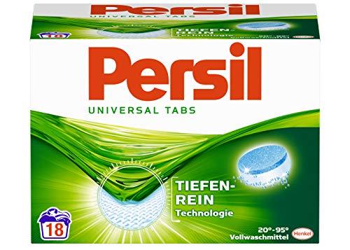 Persil Universal Tabs, Vollwaschmittel, 72 (4 x 18) Waschladungen, kraftvolle Fleckenentfernung für hygienisch reine Wäsche