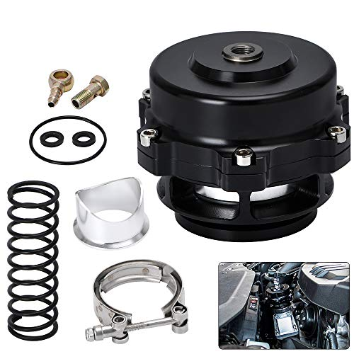 PTNHZ Universal Aluminum 50mm Blow Off Valve Dump Valve BOV with v-band Flange Black