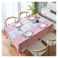 テーブルクロス PVCプラスチックの防水テーブルカバーテーブルクロスプリント耐油ホームキッチン長方形のテーブルのテーブルクロスプロテクターダイニング 食卓カバー (Color : YFMM, Specification : 90x140cm)