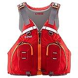 NRS cVest Type III PFD Adjustable Adult Sea Kayak Life Jacket Vest with Mesh Back, Lime, L/XL