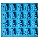 "Palksky 20avity Large Gummy Bear Mold/Large Candy Molds for Chocolate Jello Gelatin Shots Brownie Muffin Cupcake topper Ice Cube Tray Soap Bath Bomb Mould Random Color Cavity Size 2.24""x1.77"""