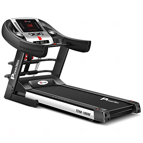 PowerMax Fitness® TDM-100M (2.0HP) Motorized Foldable, Electric Treadmill (FREE INSTALLATION)【LED Display | BMI | Spring Resistance】Running Machine for Max Pro-Workout by Walk, Run & Jog at Home