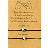 WILLBOND Promise Friendship Bracelet for Friend Couple Family Girlfriend Boyfriend Women (Estrella)