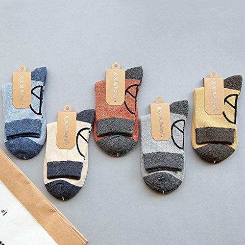 ZYTAN Herrensocken, Schlauch, Sport Socken, Schweiß Sog, Basketball Socken, Herren Winter Socken, Benz, F 5 Paaren.