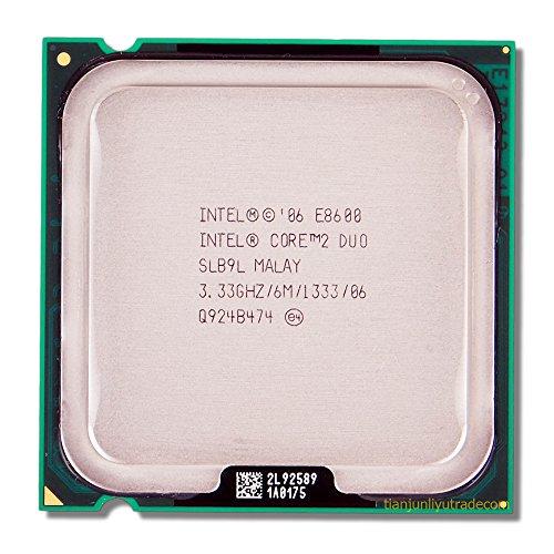 Intel Core E86003.33GHz 6MB L2Processor–Prozessoren (3.33GHz, 1333MHz FSB), Intel Core 2Duo, 3.33GHz, LGA 775(Socket T), 45nm, E8600, 64-Bit