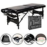 Master Massage 30' Galaxy Lx Portable Massage Table Package Black Color with Memory Foam
