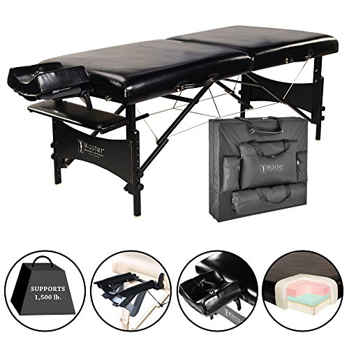 "Master Massage 30"" Galaxy Lx Portable Massage Table Package Black Color with Memory Foam"