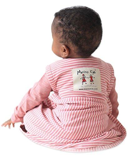 Merino Kids Sac de couchage pour bébés 0-2 ans, Framboise