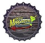 tiggersmall Homemade Margaritas 12' Bottle Cap Shaped Aluminum Sign for Bar Gameroom Made in USA