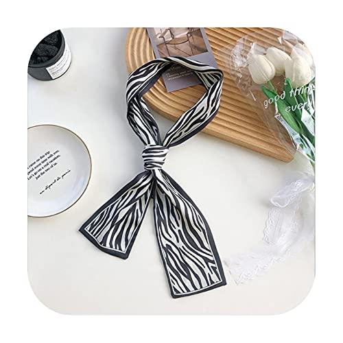Ribbons Cinta de seda para el pelo de la bufanda de la tela escocesa accesorios para el cabello de las mujeres de la tendencia de la pata de gallo de la cabeza de la cuerda de impresión de la
