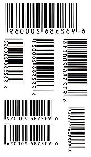 (ファンタジー) THE FANTASY タトゥーシール バーコード 記号 音符 Symbol-1【レギュラー】-7種類 … (hm448)