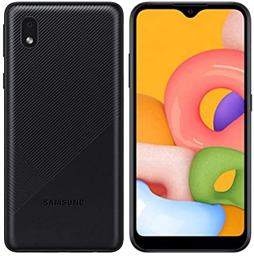 Samsung Galaxy A01 Core A013G/DS, 4G LTE, International Version (No US Warranty), 16GB, Black - GSM Unlocked (T-Mobile, AT&T, Metro) - 64GB SD + Fast Car Charger Bundle
