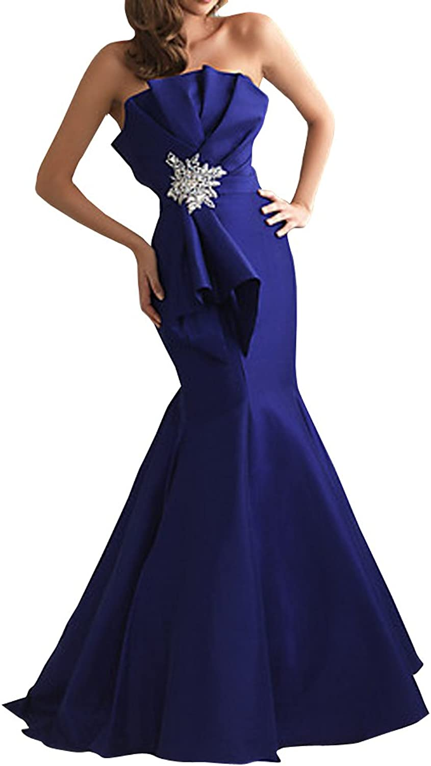 CCHAPPINESS Women's Floor Length Strapless Evening Party Bridesmaid Dresses