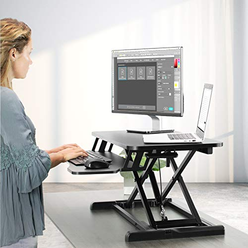 VIVO Height Adjustable 32 Inch Standing Desk Converter