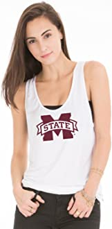 NCAA Mississippi State Bulldogs 18MST30 Womens 2x1 Flowy Long Sleeve Tee