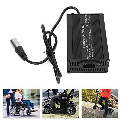 Denkerm Cargadores de Scooter, Cargador de Silla de Ruedas eléctrico de Material ABS ecológico para Silla de Ruedas eléctrica para Scooter(Transl)