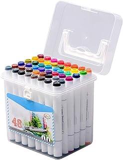 Kuingbhn Marqueur surligneur Surligneur Marqueurs Set Double tête Marker Pen Artiste à la Main Peinture Marqueurs Cadeaux ...