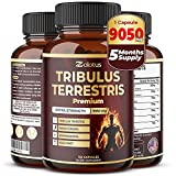 Tribulus Terrestris, 9050mg Per Capsule, 5 Months Supply with Ashwagndha, Panax Ginseng, Saw Palmetto, Maca, Shilajit. Stamina & Performance Pills for Men & Women.