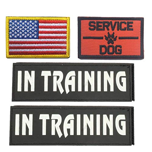 GrayCell Dog Pack Hound Travel Hiking Backpack Saddlebags/Morale Service Dog Patches for Pet Tactical K9 Harness Vest(2)