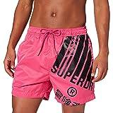 Superdry Energy Graphic Swim Short Pantalones Cortos para Tabla, Color Rosa, XL para Hombre