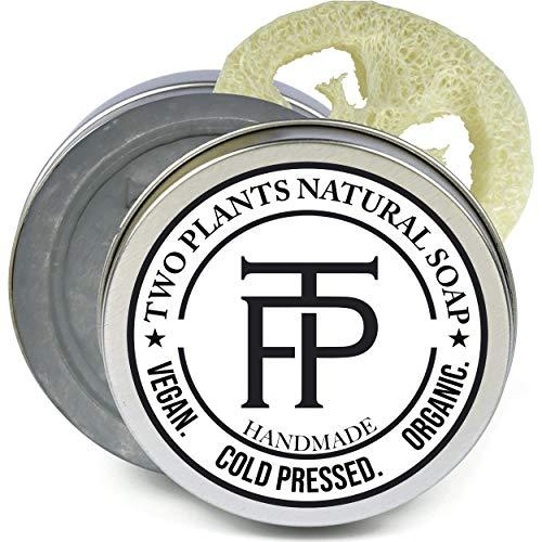 [SET] Pure Silver Naturseife | Seife für empfindliche Haut + Make-up | Premium Gesichtsseife Naturkosmetik | Gratis Seifenbox + Seifenablage | von TWO PLANTS